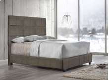 "Brooklyn King Bed, Nickel 82""x4""x58"""