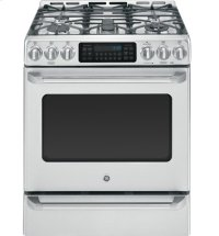 """30"""" Slide-In Dual-Fuel Convection Self-Cleaning Range with Baking Drawer"""