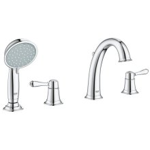 Fairborn Four-Hole Roman Bathtub Faucet with Handshower