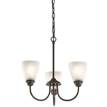 Jolie Collection Jolie 3 Light Mini Chandelier - Olde Bronze OZ