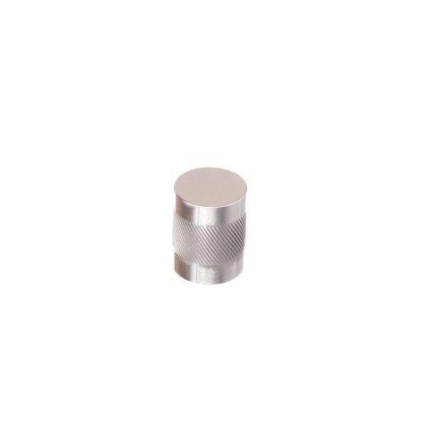 """Single Knurl Knob 1 1/4"""" diameter - Satin Nickel"""