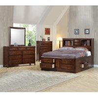Hillary and Scottsdale Cappuccino California King Four-piece Bedroom Set Product Image