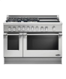 "48"" Professional, 5 Burner, Dual Fuel Range W/ 17"" Griddle"