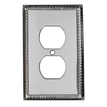 Single Duplex Arlington Switch Plate - Satin Nickel