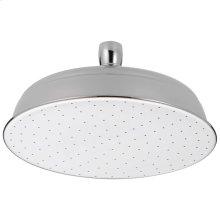 Chrome Single-Setting Metal Raincan Shower Head