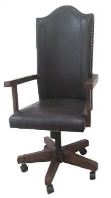 Emerald Home Castlegate Arm Chair With Casters Pine /sienna Walnut D942dc-23