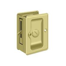 "HD Pocket Lock, Adjustable, 3 1/4""x 2 1/4"" Privacy - Polished Brass"