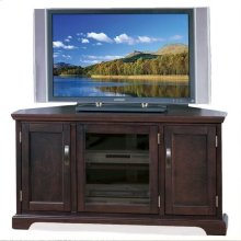 "Chocolate Bronze 46"" Corner TV Console #81385"