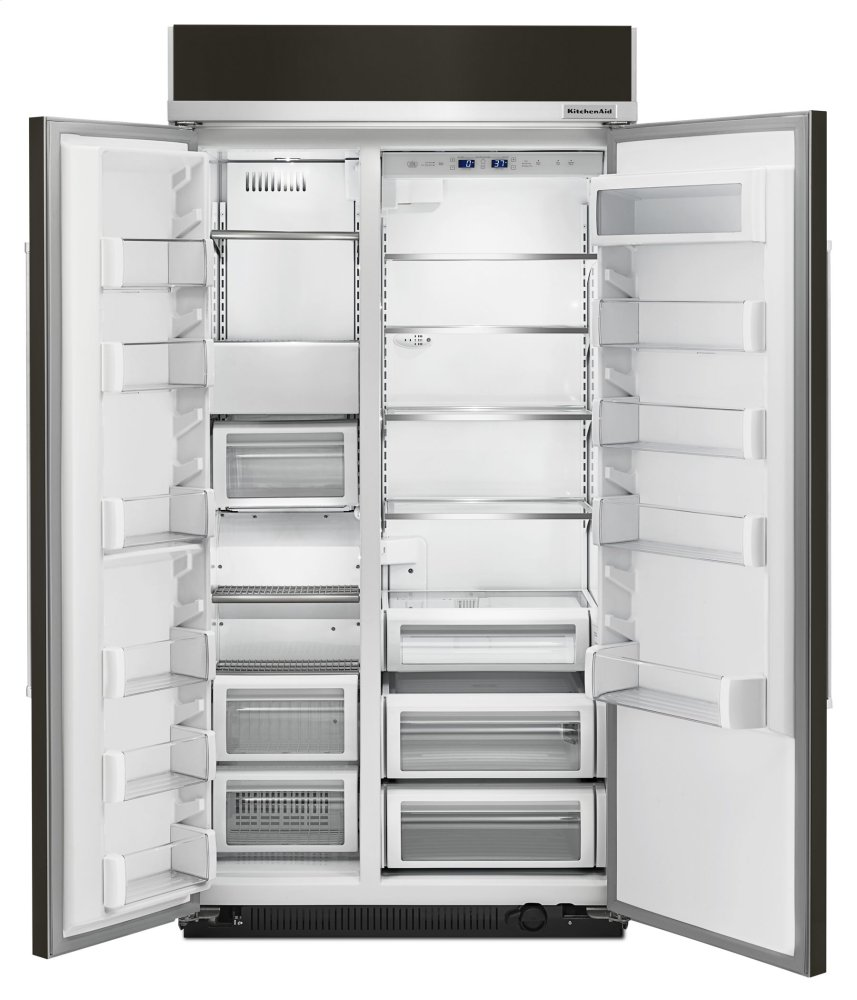 25.5 Cu. Ft 42 Inch Width Built In Side By Side Refrigerator With