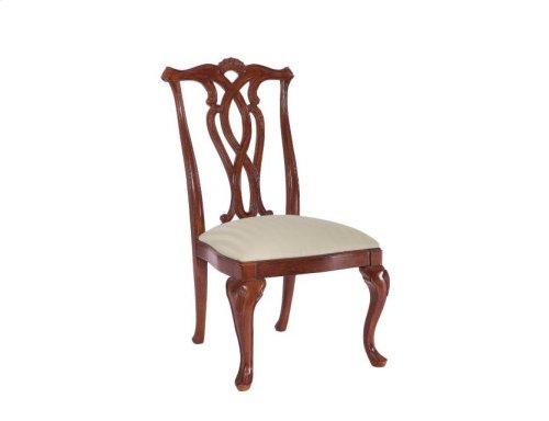 Pierced Back Side Chair