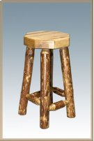 Glacier Country Log Barstool Product Image