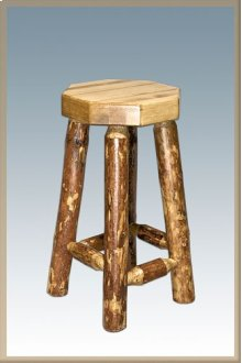 Glacier Country Log Barstool
