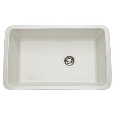 Pergame Biscuit Allia Fireclay Single Bowl Undermount Kitchen Sink