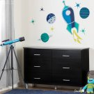 Cosmic Wall Decals - Blue and Turquoise Product Image