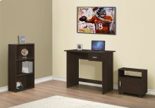 COMPUTER DESK - 3PCS SET / CAPPUCCINO DESK/BOOKCASE/ CART