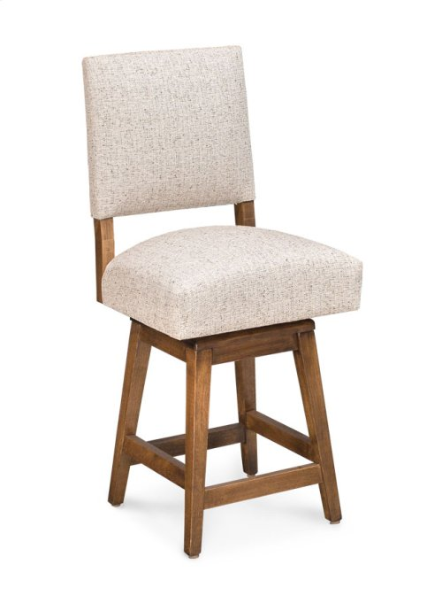 "Cornelia Swivel Barstool, Cornelia Swivel Barstool, 24""h, Fabric Seat and Back"