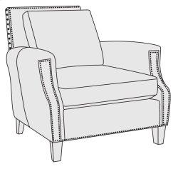 Normandy Chair in Mocha (751)