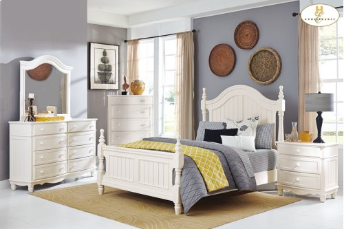 HOMELEGANCE 1799-1-9 Clementine Queen Bed, Night Stand, Dresser, Mirror & Chest Group