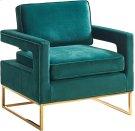 """Noah Velvet Accent Chair - 33.5""""L x 29.5""""D x 35.5""""H Product Image"""