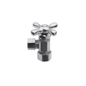 "Gloss Black Angle Valve, 1/2"" Compression"