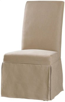 Clarice Skirted Chair-Hemp