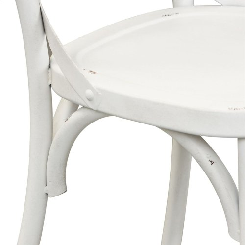 X Back Counter Chair - Antique White