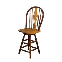 "DLU-B124-24-NLO  24"" Keyhole Barstool  Nutmeg Light Oak with Light Oak Accents"