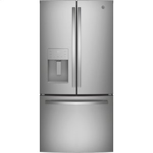 GE® ENERGY STAR® 17.5 Cu. Ft. Counter-Depth French-Door Refrigerator - STAINLESS STEEL