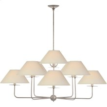 Visual Comfort NW5070BSL-L Niermann Weeks Kelley 9 Light 44 inch Burnished Silver Leaf Chandelier Ceiling Light, Large