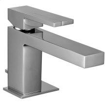 Single-hole washbasin mixer with extended spout