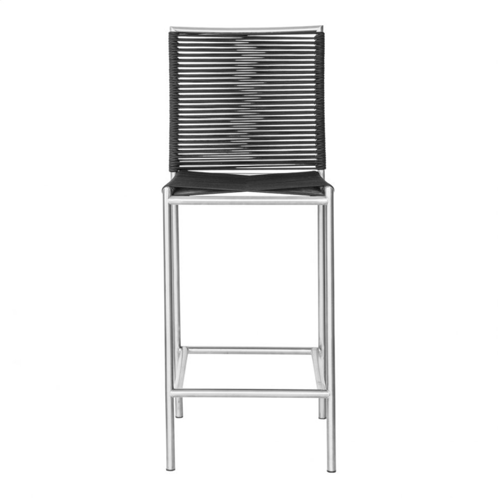 Brynn Outdoor Bar Stool Black