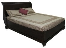 Double Florentino Sleigh Bed w/ Boat Rails & Footboard