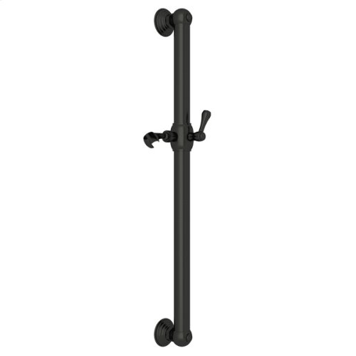"""Old Iron 24"""" Decorative Grab Bar With Lever Handle Slider"""