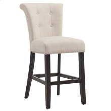 Selma 26'' Counter Stool, set of 2, in Beige with Coffee Legs
