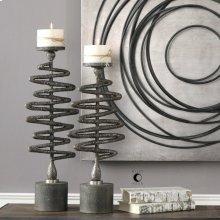Zigzag Candleholders, S/2