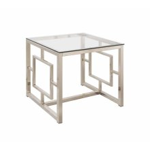 Occasional Contemporary Nickel End Table