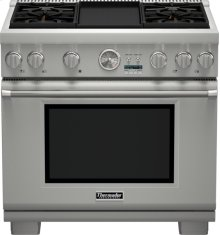 36 inch Professional Series Pro Grand Commercial Depth All Gas Range PRG364JDG