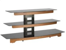 "Audio Video Stand Waterfall design - fits AV components and TVs up to 56"" - Chestnut"