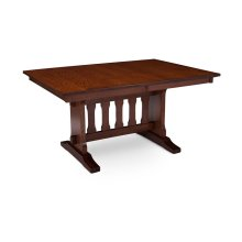 Franklin Trestle II Table, Solid Top