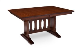 "Franklin Trestle II Table, Franklin Trestle II Table, 48""x72"", 1-18"" Stationary Butterfly Leaf on Each End"