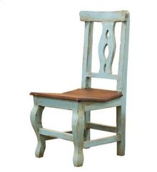 Turquoise/Walnut Alis Chair