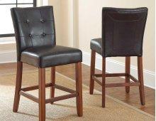 "Granite Bello Counter Parsons Chair, Black, 19"" x 25"" x 40"""
