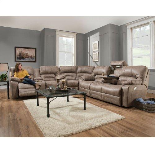 Reclining Sofa w/Drop Down Table & Lights