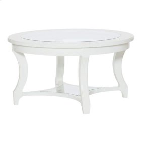 Lynn Haven Round Glass Cocktail Table-Kd