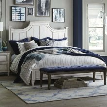 King/Aged Whitestone Bella Panel Bed