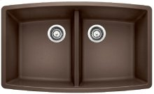 Blanco Performa Equal Double Bowl - Café Brown