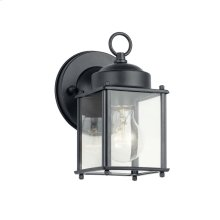 "8.25"" 1 Light Wall Light Black"