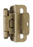 Self-closing, Partial Wrap 3/8in(10mm) Inset Hinge Product Image