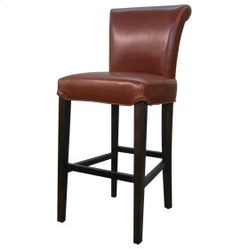 Bentley Leather Bar Stool, Cognac