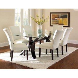 Steve Silver Co.Berkley 7 Piece Set (Glass Top Table & 6 Side Chairs)